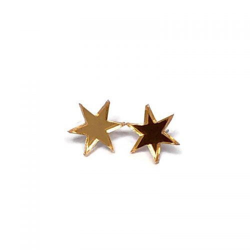 Gold Starburst Acrylic Studs by Levanter