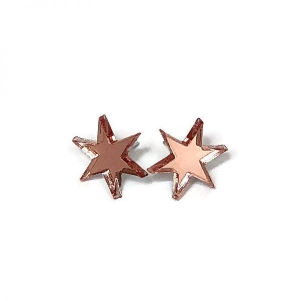 Rose Gold Starburst Acrylic Earrings by Levanter