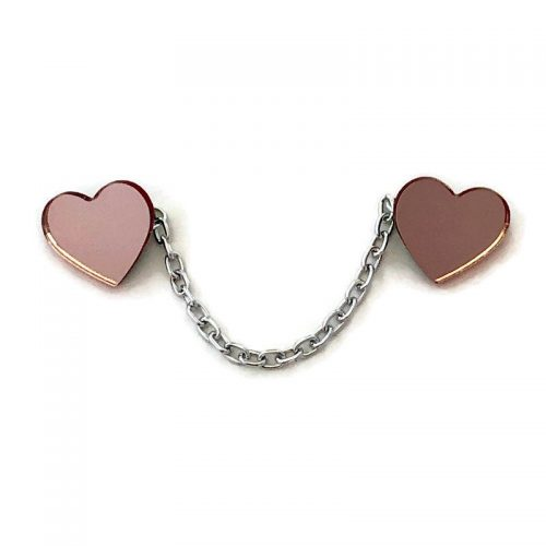 Rose Gold Heart Sweater Clip by Levanter