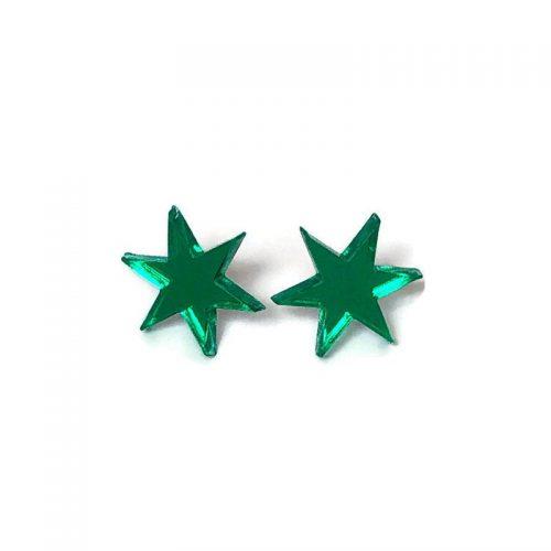 Green Starburst Stud Earrings by Levanter