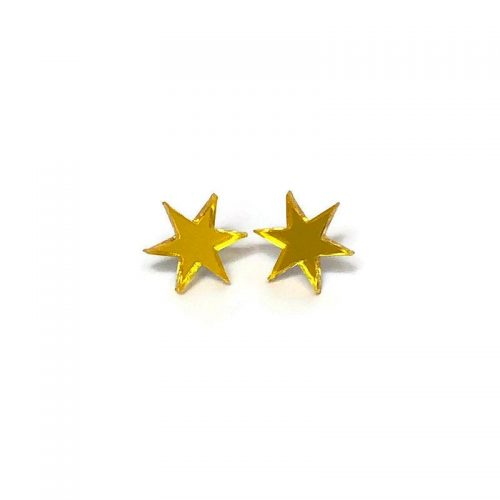 Yellow Starburst Stud Earrings by Levanter