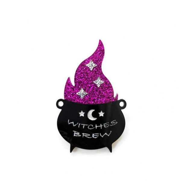 Witches Brew Cauldron Brooch by Levanter