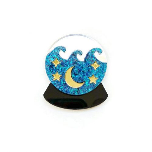 Crystal Ball Fortune Teller Brooch