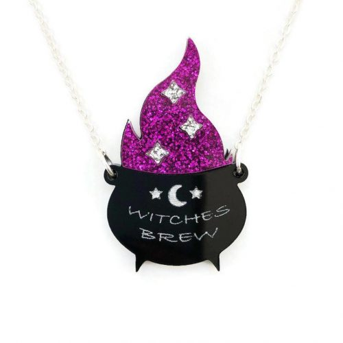 Witches Brew Cauldron Necklace by Levanter