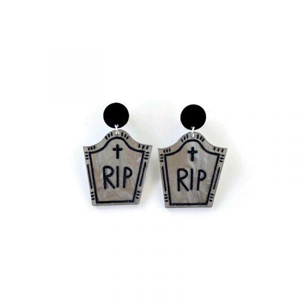 Halloween Gravestone Dangle Earrings